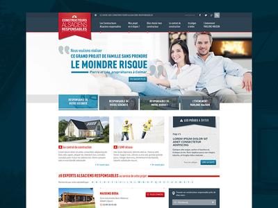 Home builder website webdesign desktop site web homepage clean ui ux blue layout website