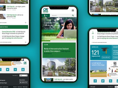 Bank website website web ux ui site responsive layout homepage green iphone mobile clean