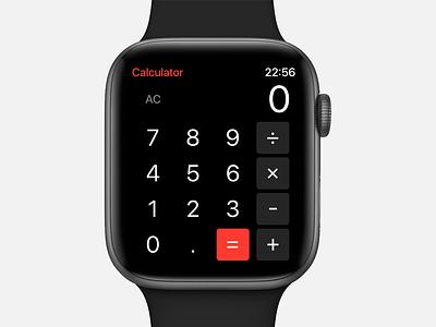 Daily UI #004 - Calculator calculator watch os watch app watch apple ux ui madewithadobexd freebie free daily ui clean adobe xd