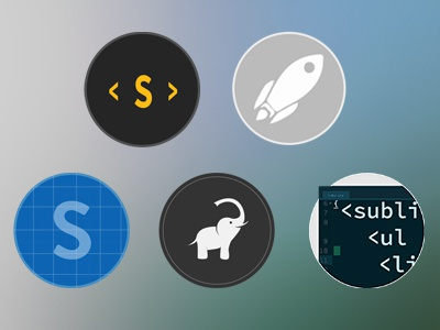 Flaticons Preview flat icon icon set metro icons mamp sublime launchpad ide
