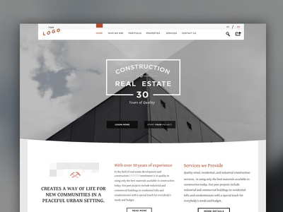 [WIP] Real Estate Company Proposal - Light  web website real estate architecture light construction