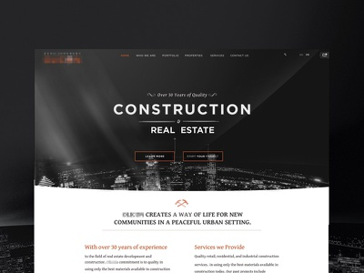 [WIP] Real Estate Company Proposal - Dark web website real estate architecture dark construction