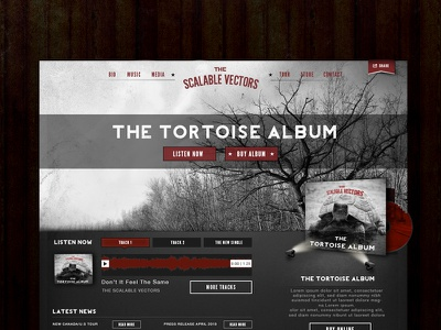 Web Layout for a Band website web band album grunge