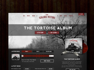 Web Layout for a Band