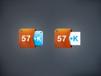 Klout Icons (Free PSD)