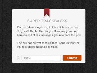 Super Trackbacks trackback ui ux box web