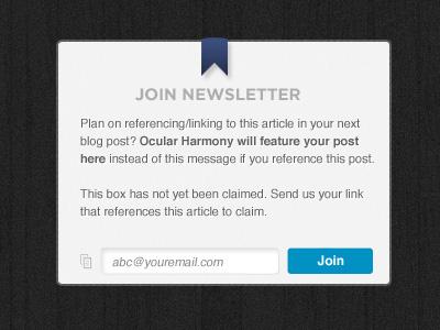 Newsletter Box newsletter ux ui box web