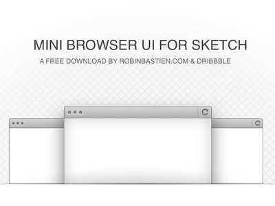Simple Browser UI for Sketch sketch bohemiancoding vector ui browser free download freebie