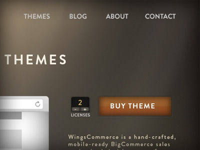 WingsCommerce 3 web design web button homepage
