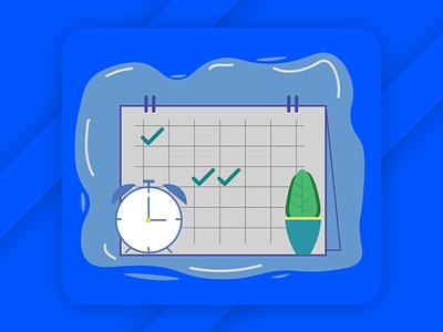 Alarm + Calendar illustration app vector design illustration