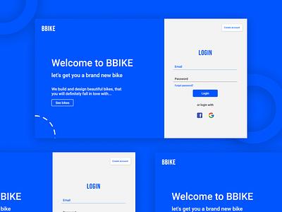 BBIKE Login Screen UI Design ux ui design