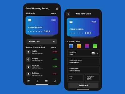 Banking App Home Screen design banking app minimal colour color dribbble instagram uxui uiux user interface design user interface uidesign figma ux ui app