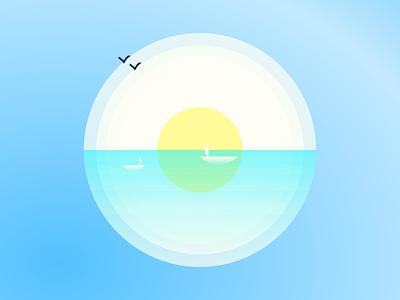 Sea illustration minimal illustration minimal designer colour color illustration in figma dribbble instagram sea illustration sea logo figma design illustration