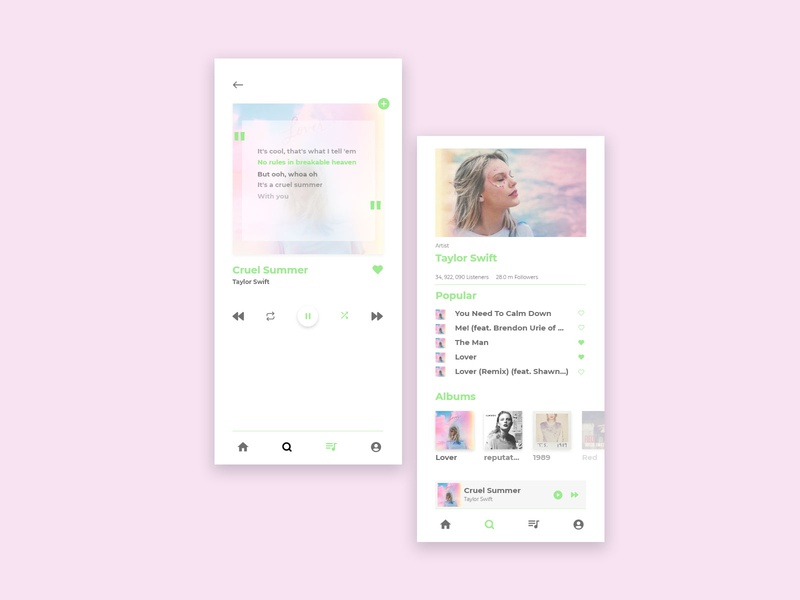Daily UI Challenge: Music Player UI