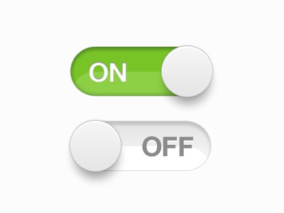 On/Off gui ui ux button slider switch green on off grey white stroke clean minimal apple mint