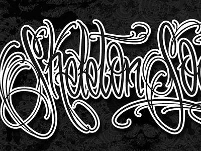 Skeleton Society toni moore skeleton logo tattoo script