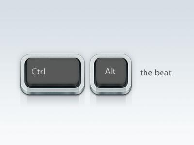 Ctrl Alt The Beat icon ui key keyboard rebound