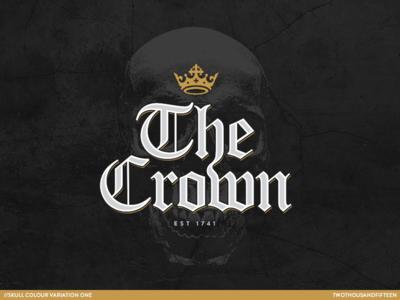 The Crown logo skull pub crown