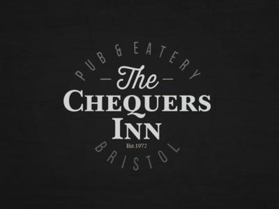Chequers Inn type pub logo