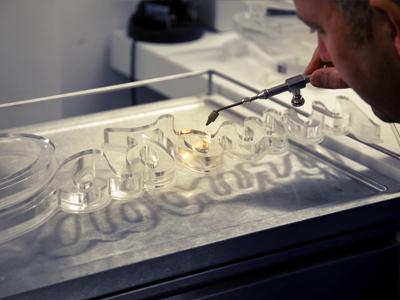 Cadbury - Flame Polishing flame polishing cadbury acrylic signage