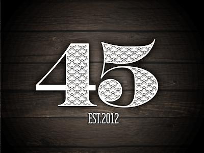 Forty Five 45collective 45 logo sahara bodoni soho pattern