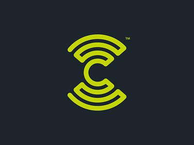 C Logo lime green bristol logo c