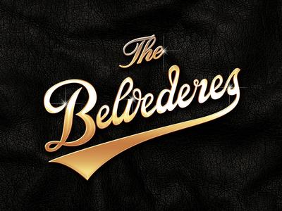 The Belvederes belvederes logo typography gold texture bling