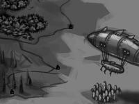 steampunk-ish map in progress