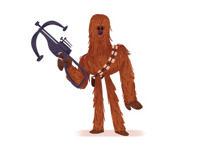 Chewbacca maythe4thbewithyou star wars day star wars cartoon character character design charachter chewbacca
