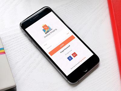 Login Screen showcasing gui followers following ecommerce signup mobile ui ux social ios login