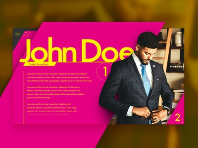 Profile design, professional and vivid | daily ui 6