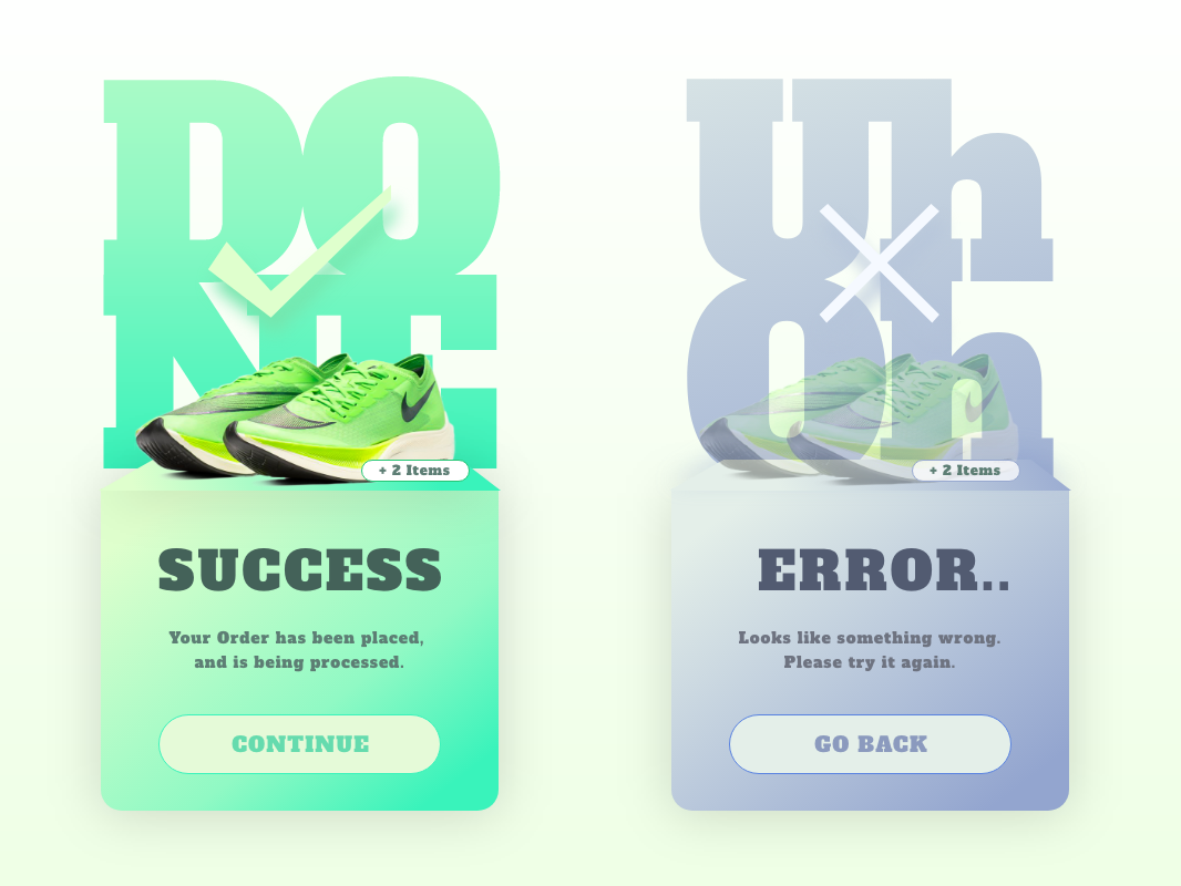 Flash Message | DailyUI ui design shoes gradient color daily ui ui design