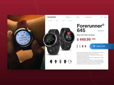 E-Commerce Single Page Design | Daily UI #12