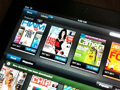 Scoop iPad ipad app dark grey blue ui