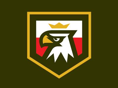 Aquila Fortis Logo gold white polish poland logo branding mascot sports sport eagles eagle