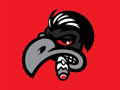 Mad Raven american america branding madraven mad kulture kustom raven mascot logo
