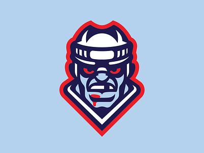 Ice Brawlers - Primary Mark goon icehockey mark branding logo sport fighter blood hockey ice brawler