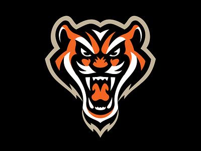 Tiger Logo branding tigers sports sport logo mascot tiger