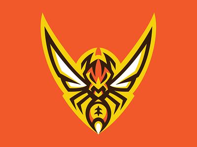 Wasp Logo akuma mascot branding football sports sport logo swarm wasp