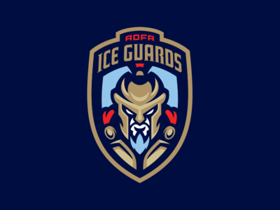 ADFA Ice Guards spartan sparta guard sports branding logo australia ice hockey sport ice hockey
