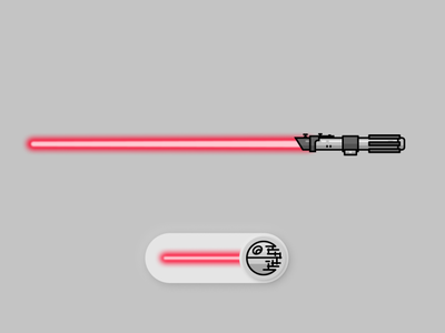 Vader Saber - Figma animation trial(s) figma animation figmadesign figma animated gif animated animation lightsabers lightsaber star wars starwars illustration