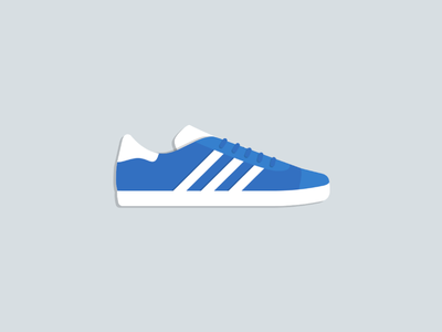 Adidas Gazelle blue shoes sneakers gazelle adidas illustration flat