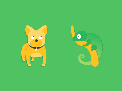 Who is your pet? green illustration icon flat dog bulldog bully iguana animal pet