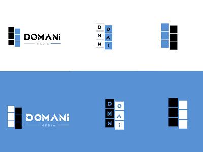 Domani Media icon logo brand identity branding graphic design