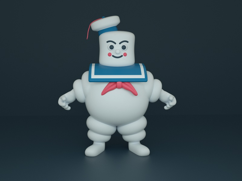 Stay Puft Marshmallow Man cinema 4d c4d kawaii character design render cute 3d character illustration ghostbusters stay puft