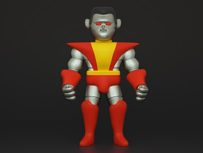 Colossus character design 3d render character illustration colossus xmay xmen