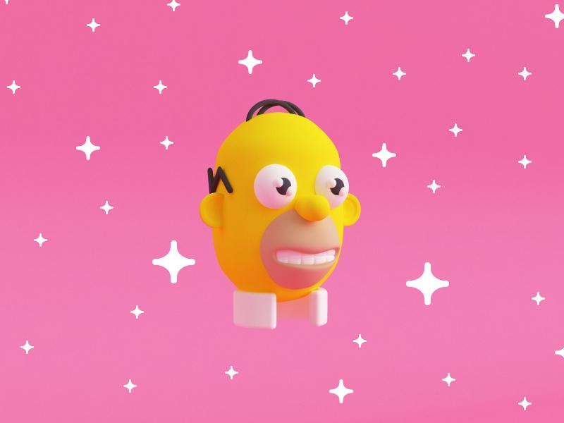 Mr Sparkle (the Simpsons) illustration 3d fan art the simpsons mr sparkle