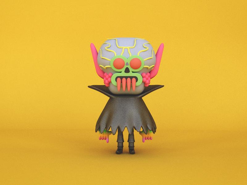 Craig Gleason's  Ghoul design character design character render monster ghoul illustration 3d