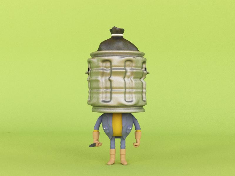Trash Head design character design character render monster trash head illustration 3d