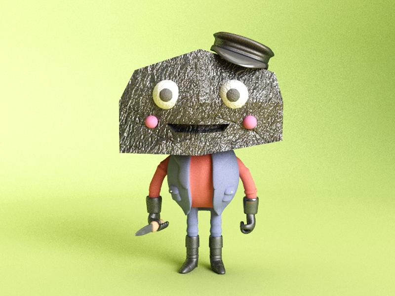 Block Head vray c4d cinema 4d craig gleason block head render monster 3d illustration illustration character design character 3d